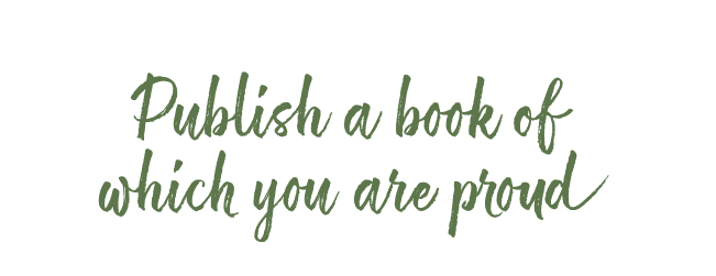 publish a book you are proud of